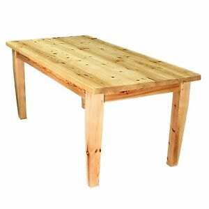 Modern Rustic Solid Knotty Six Foot Country Pine Kitchen Dining Table Seating