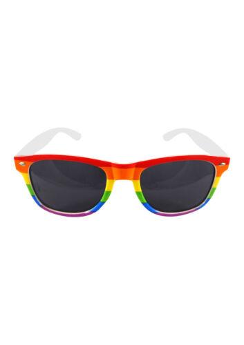 Gay Pride Rainbow LGBT Festival Headband Wristband Rainbow Glasses Party Set