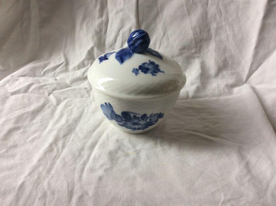 Porcelæn, Sukkerskål med låg 10/8082 , Royal Copenhagen –