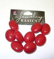 Cousin Jewelry Basics 9 Pc Acrylic Dark Orange Oval Crackle Beads 7/8 X 3/4