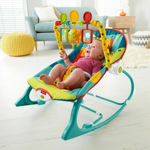 Fisher-Price Infant to Toddler Rocker Baby Bouncer Swing Seat Chair Portable Toy