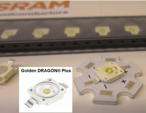 10 Stück//10 pieces LED OSRAM Golden DRAGON Plus LENS 4000K NEUTR WHITE LCW W5AM