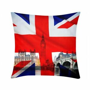 Union Jack UK Flag Throw Pillow Cover