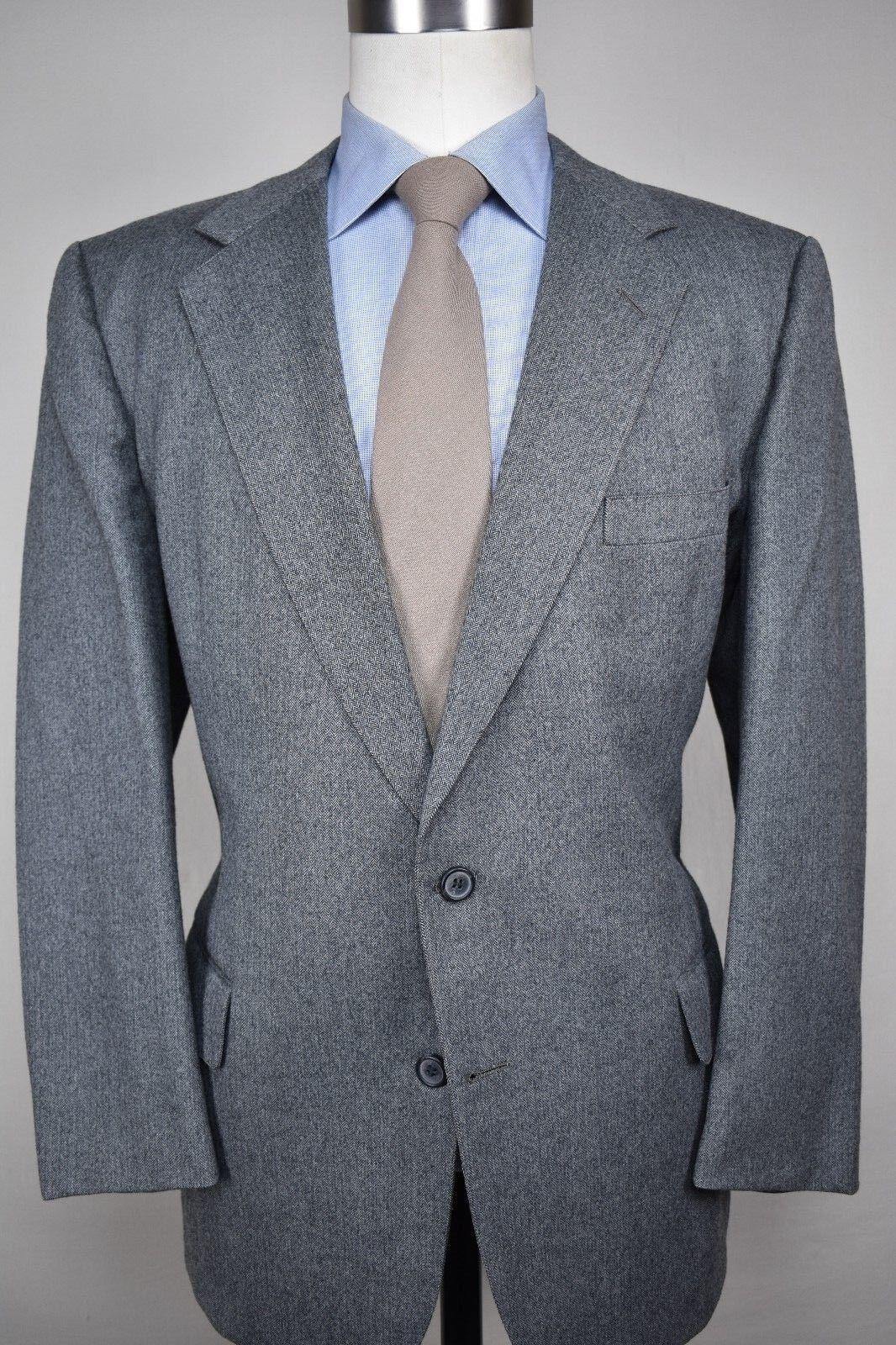 H. Freeman & Son Light grau Herringbone Worsted Wool Two Piece Suit Größe: 42R