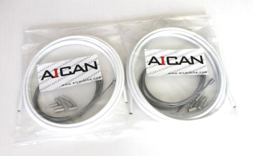Blanc Aican Bike Bicycle Shift Dérailleur Route cable housing set kit vs Jagwire