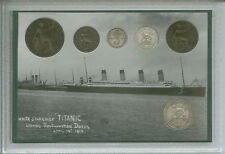 The Sinking of Titanic Vintage Maiden Voyage Antique British Coin Gift Set 1912
