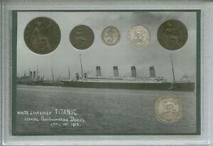 The-Sinking-of-Titanic-Vintage-Maiden-Voyage-Antique-British-Coin-Gift-Set-1912