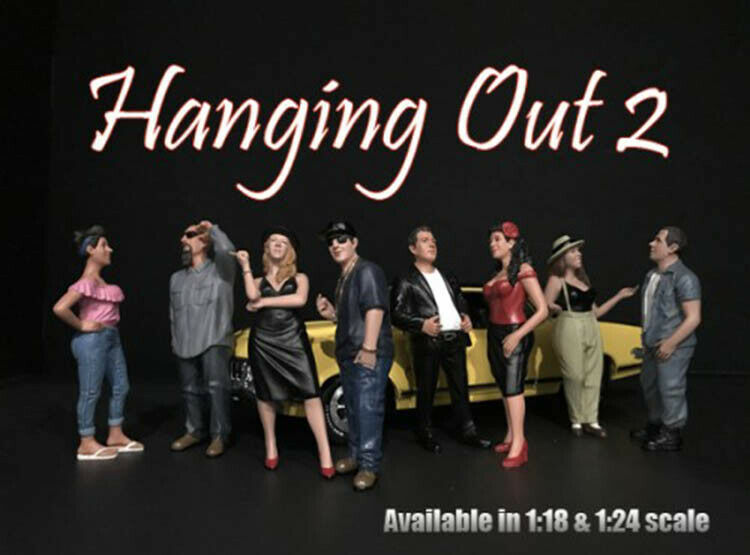 Hanging Out Series II Cool Models 8 Figures 1 18 American Diorama