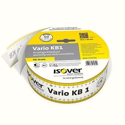 0,47€/m Zuversichtlich Isover Vario Kb 1-60mm X 40m Klebeband Für Dampfsperre Dampfbremse