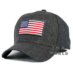 USA-American-Flag-Hat-Cap-Stars-and-Stripes-Snapback-Baseball-Cap-Dark-Gray