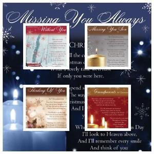 Christmas Graveside Memorial Bereavement Cards VARIETY