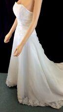 Exquisite Bridal Wedding Dress Designer Inspired One-of-A-Kind OOAK Size 4-6