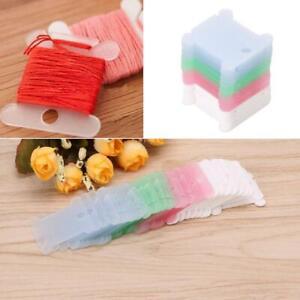 50Pcs-Embroidery-Floss-Craft-Thread-Bobbin-Cross-Stitch-Storage-Holder-Plastic