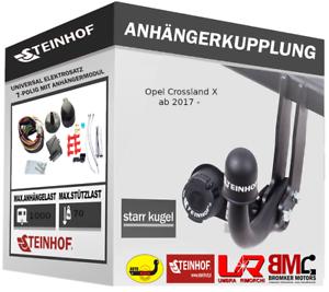 Steinhof Anhängerkupplung AHK für Citroen C1 2005-2014 /& E-Satz 7-Polig