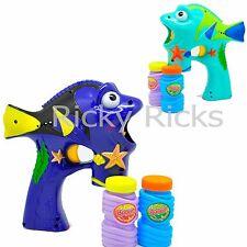 LED Bubble Gun Dori Flashing Light Up Bubbles Blaster Squirt Blower