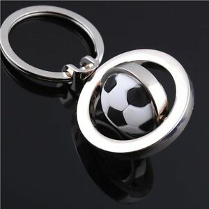 Football-Gift-Chain-Keyfob-Keyring-Rotating-Soccer-Keychain