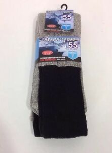 MB55-BY-EXCELL-MEN-039-S-3-PACK-THERMALSPORT-SOCKS-BLACK-MARL-SZ-10-13-NWT