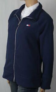 Tommy Hilfiger Navy Blue Fleece Coat Jacket Full Zip NWT