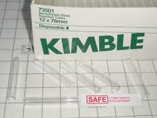 Glass Reaction Test Tubes Qty 25 12x76mm Kimble Borosilicate 73501 1276 X32 3