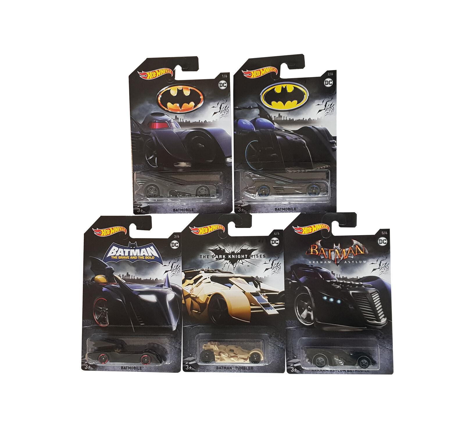 Hot Wheels Batman 5er Pack Joker Batmobile Gotham City Neu versiegelt 3x Angebot