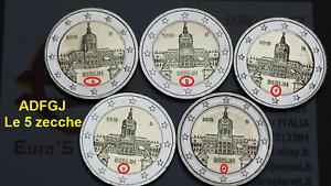 5 x 2 euro 2018 ADFGJ Germania Charlottenbu Berlin Deutschland Allemagne Germany
