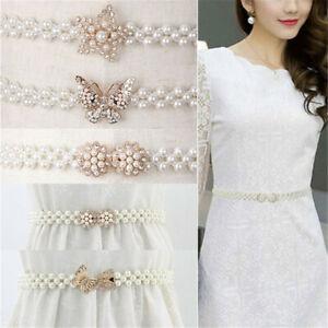 Brillant-Un-pull-Une-robe-Ceinture-de-perle-Ceinture-elastique-Ceinture-Foreuse