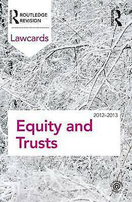 Equity and Trusts Lawcards 2012-2013 by Routledge (Paperback book, 2011)
