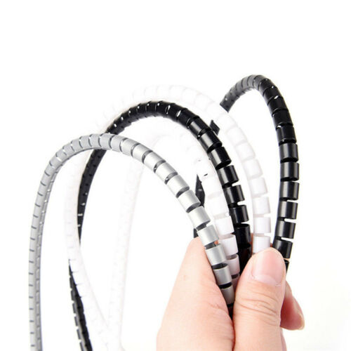 1m 10//25mm Cable Spiral Wrap Tidy Cord Wire Band Loom Storage Organizer Tool G1H