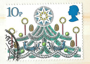 GB Christmas Tree Stamp with star and birds 10p  see scan - London, London, United Kingdom - GB Christmas Tree Stamp with star and birds 10p  see scan - London, London, United Kingdom