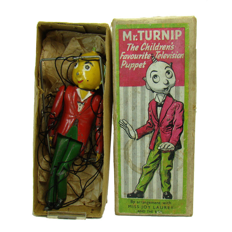 Mr. Turnip Leaded Puppet Toy - Near Mint in Box