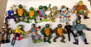 Lot de 14 figurines Tortues Ninja des années 1990 - Vérifiez les photos