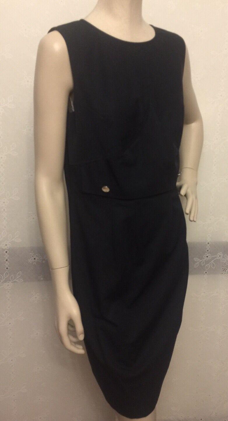 NWT Brooks Brothers schwarz 2 Button Interest Waist SZ 8 Dress