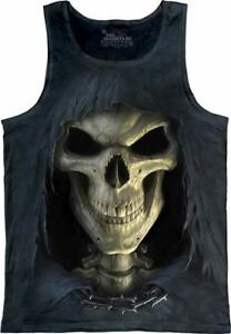 The-Mountain-100-Cotton-Women-039-s-Tank-Top-Big-Face-Death-NWT