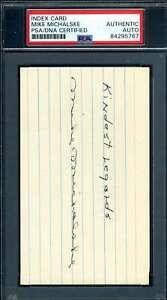 Mike Michalske PSA DNA Coa Autograph Hand Signed 3x5 Index Card