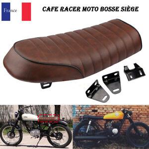 Copieux Universel Brun Cafe Racer Moto Bosse Siège Selle Pour Suzuki Yamaha Honda Harley