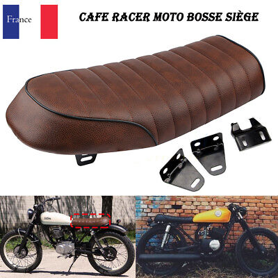 Moto Retro Siège Coussin Cafe Race Hump Brun Pour Kawasaki Honda Suzuki