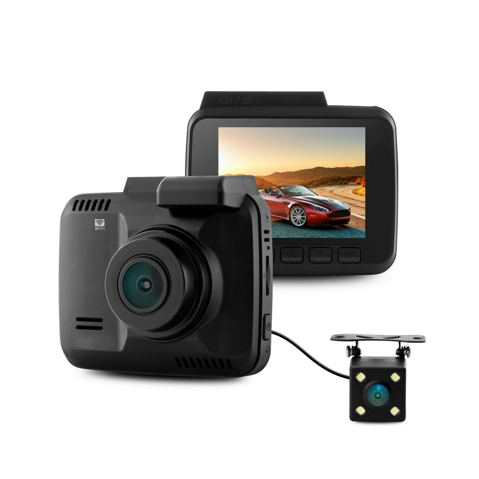 s-l1600 Hiwowsport Car Dash Cam 4K Ultra HD 2160P Built In WiFi & GPS Parking Mode Rear