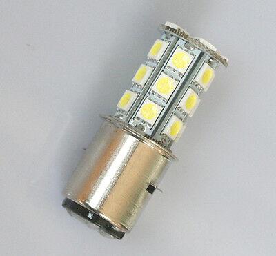 Birne BA20d 6V/12V/24V SMD 24 LED Lampe Glühlampe Roller Motorrad Deutsche Post