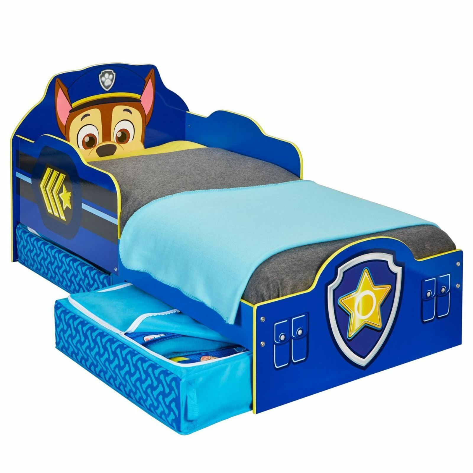 Paw Patrol Chase Baby bed with Storage Plus Fully Saut Mattress FREE P + P