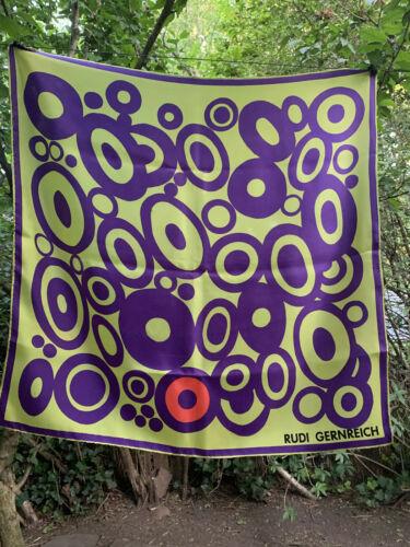 ***** RARE 1960's POP-ART Vintage Square Silk Sca