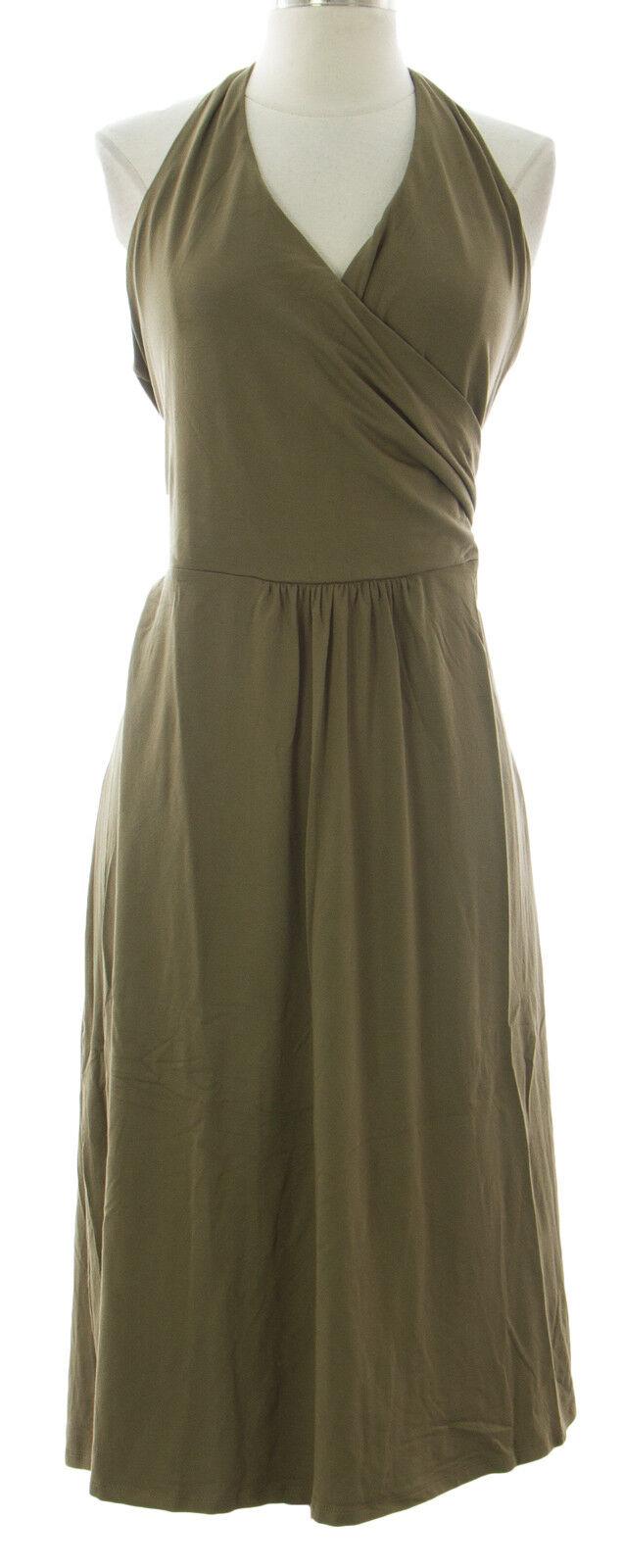 Boden Damen Braun St.Lucia Kleid mit Nackenband Wh517 Neu mit Etiketten