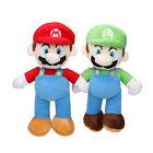 2x Super Mario Bros. Mario&Luigi Figure Plush Doll Toy Set Stuffed Kid Gift Xmas