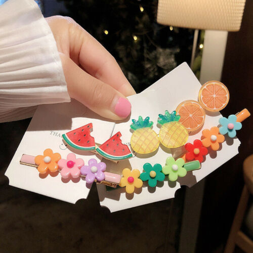 Candy Color Hairpins Snap Hair Clip Kids Girl Barrettes BB Clips Cute 2Pcs//Set