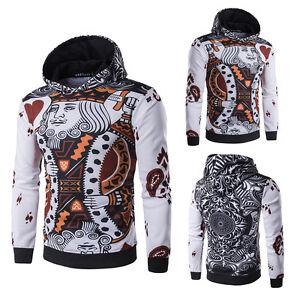 Casual-Pullover-Poker-Heart-King-3D-Print-Hoodie-Hooded-Sweatshirt-Coat-Sweater