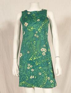 034-Vitos-039-s-annees-60-Francais-Vintage-Print-Mini-Robe-UK-8-petit-10