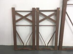 Prime Details About Set Of Vintage Wooden Beer Biergarten Garden Bench Spare Brown Metal Legs Uwap Interior Chair Design Uwaporg