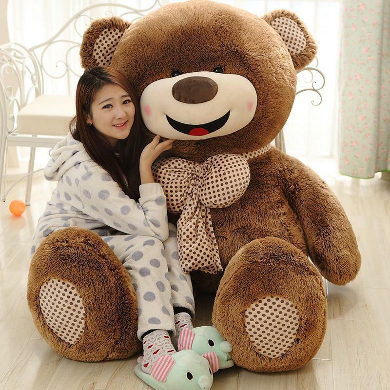 180cm/72'' Big Teddy bear only Cover  Plush Toy Shell  with Zipper  Xmas kid Gif