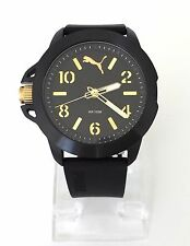 Puma Herren Uhr schwarz gold Silikon PU104181001