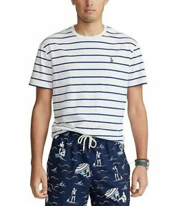 Polo-Ralph-Lauren-Men-039-s-T-shirt-M-Classic-Fit-Soft-Cotton-Stripe-SS-Tee-New