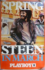 BRUCE-SPRINGSTEEN-In-March-Playboy-Magazine-Promo-Poster-ORIGINAL-1976-Near-Mint